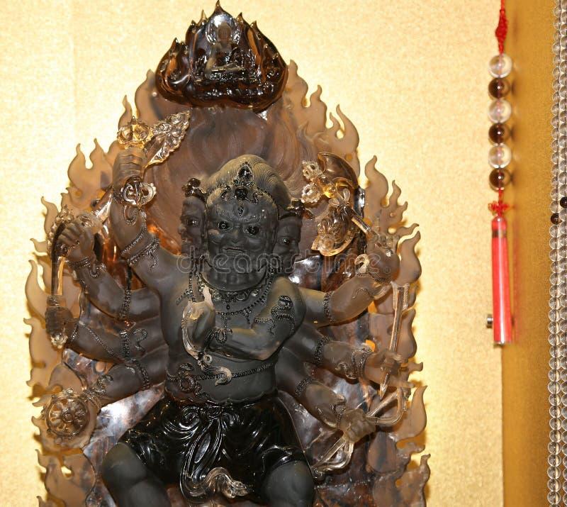 Dharmapala (beschermer van dharma), Boeddhistische tempel in Peking, China royalty-vrije stock foto