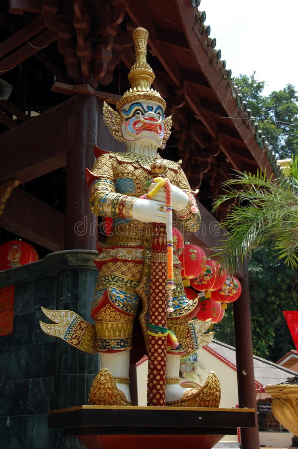 Dharmapala. Guardian of the Dharma and Buddhist Doctrine - a deity protecting the Buddhist teachings, as well as those who practice the Dharma. Thailand royalty free stock photo