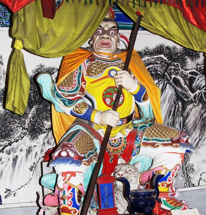 Dharmapala (protecteur de dharma), temple bouddhiste dans Pékin, Chine. photos stock