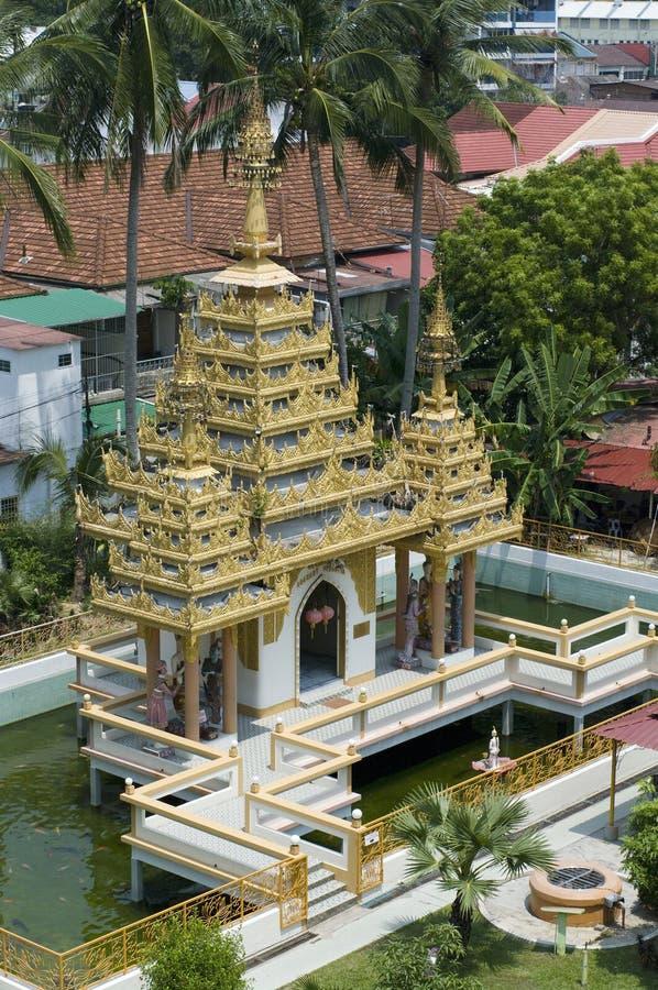 Dharmikarama birmanischer Tempel auf Insel Penang lizenzfreies stockfoto