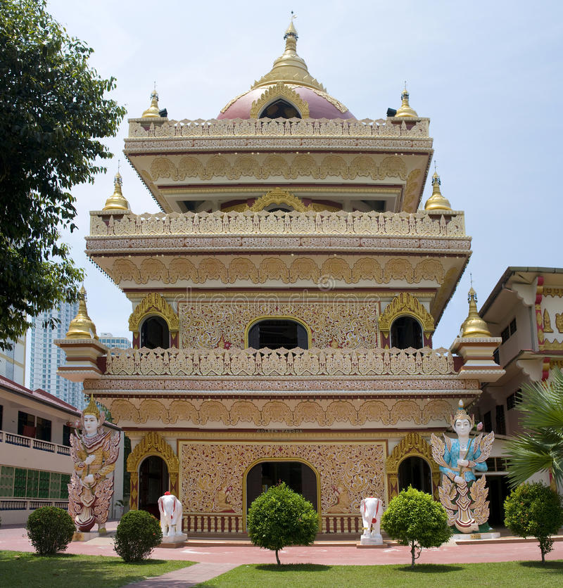 Download Dharmikarama Burmese Temple, Malaysia Stock Image - Image: 25253491