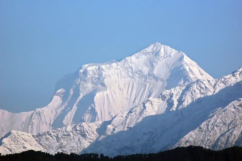dhaulagiri喜马拉雅山庄严山 免版税图库摄影
