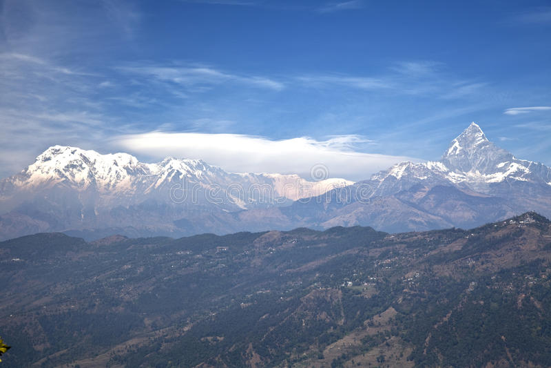 Dhaulagiri-Annapurna-Manaslu Waaier, Nepal stock fotografie