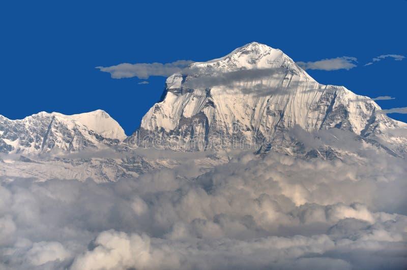 Dhaulagiri Himal royalty-vrije stock afbeeldingen
