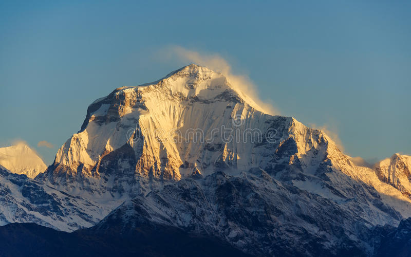 Dhaulagiri I en la salida del sol, Nepal imagen de archivo libre de regalías