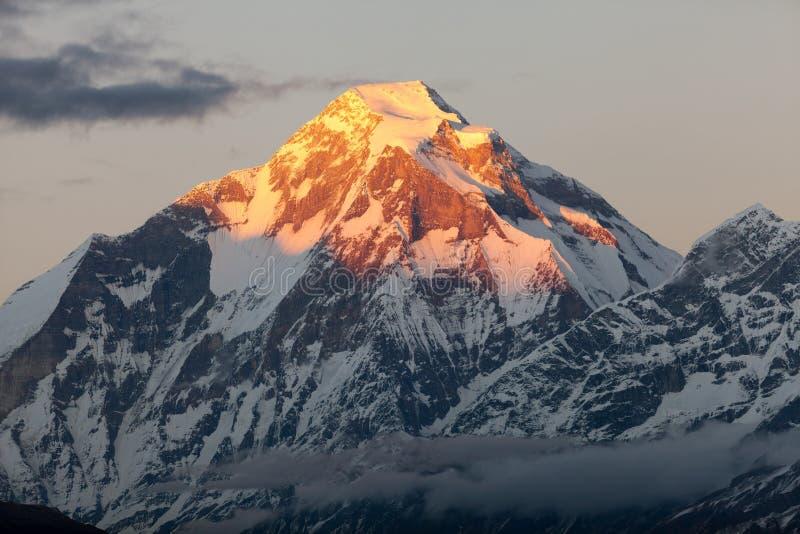 Dhaulagiri - Nepal royaltyfria bilder