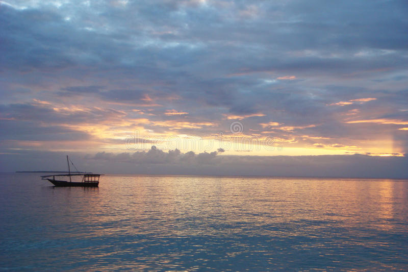 Dhaw - coucher du soleil photo stock