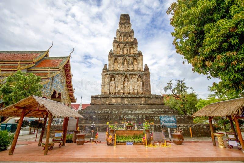 Dhe vi de Wat Jham - Lumphoon Tailândia imagem de stock