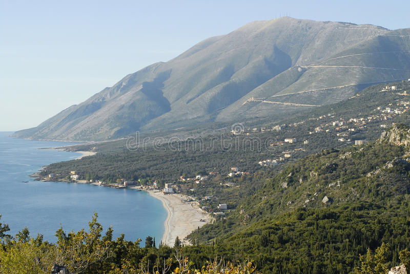Download Dhermi and Llogara pass stock photo. Image of albania - 18694178