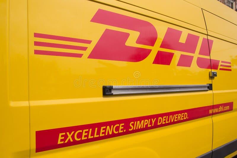 DHL photo stock