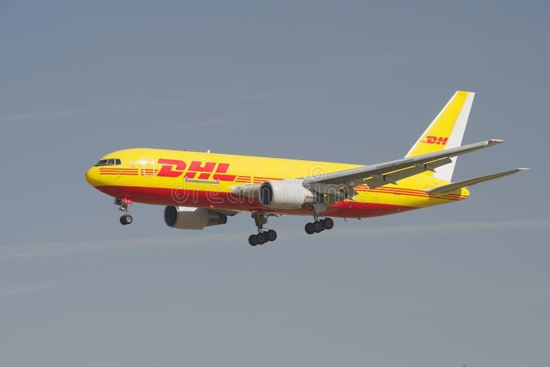 DHL Boeing 767 fotografia stock