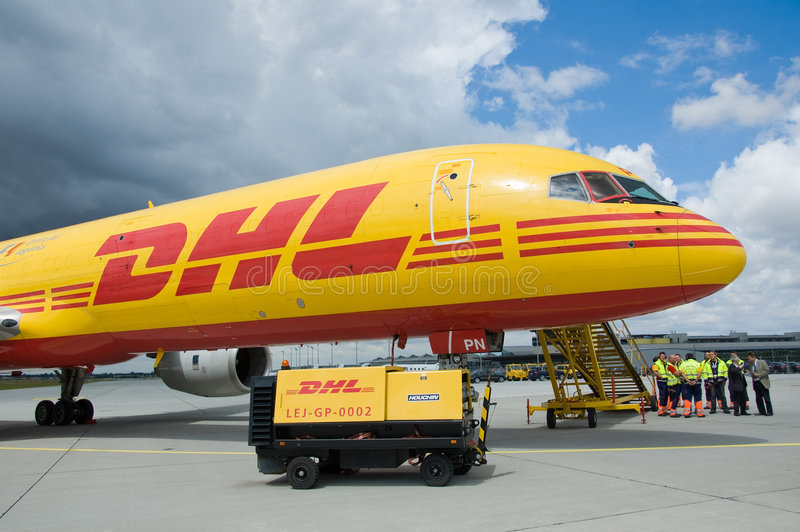 DHL cargo royalty free stock image