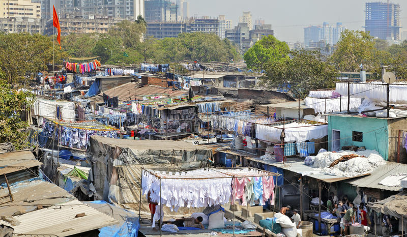dhobhi ghat mumbai地平线 免版税库存图片