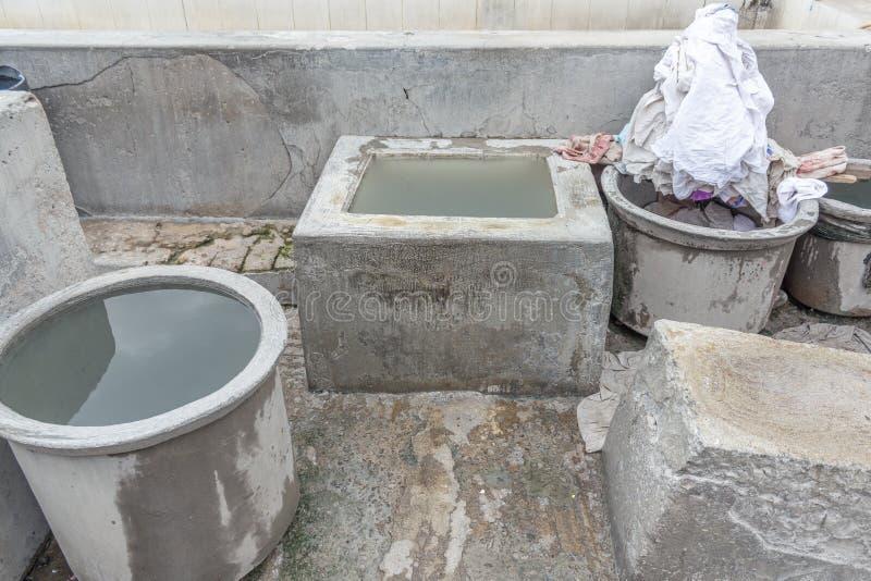 Dhobi Gana är en välkänd tvättinrättning för öppen luft i Chennai Indien royaltyfria foton