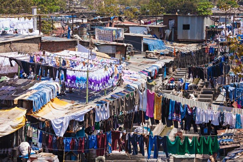 Dhobi Ghat, Mumbai imagens de stock