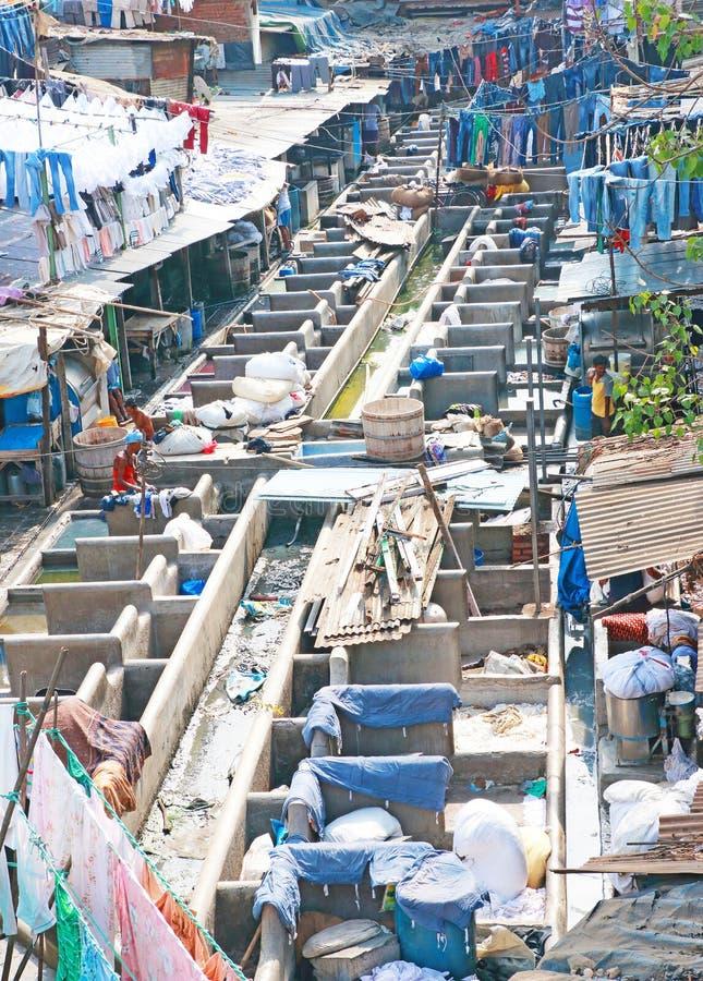 Dhobi Ghats laundry area of Mumbai india royalty free stock image