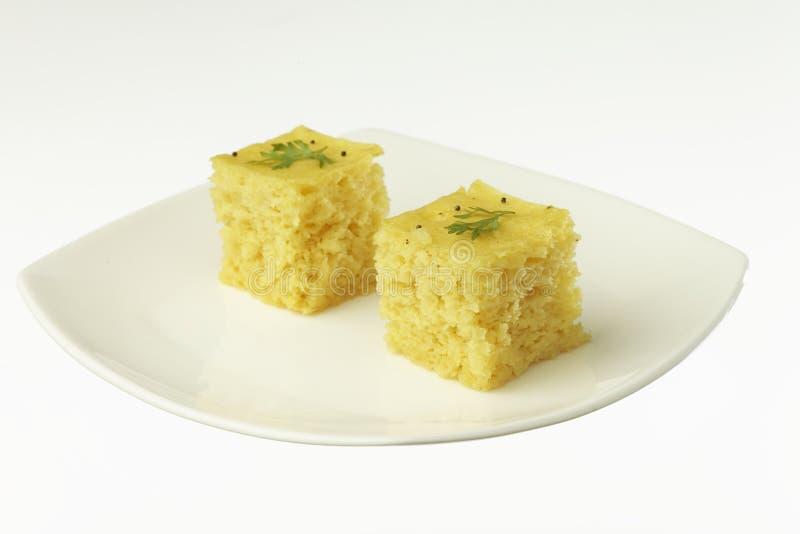 Dhokla κέικ φακών νότιου ασιατικό ινδικό gujarati στοκ εικόνες με δικαίωμα ελεύθερης χρήσης