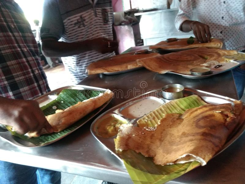 Dhosa. South indian food breakfast royalty free stock photo