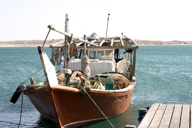 Dhow Arabskiej Połowowej Obrazy Royalty Free