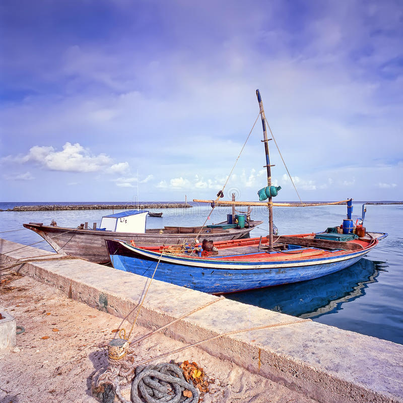 Dhow Fishing Boats Stock Photography