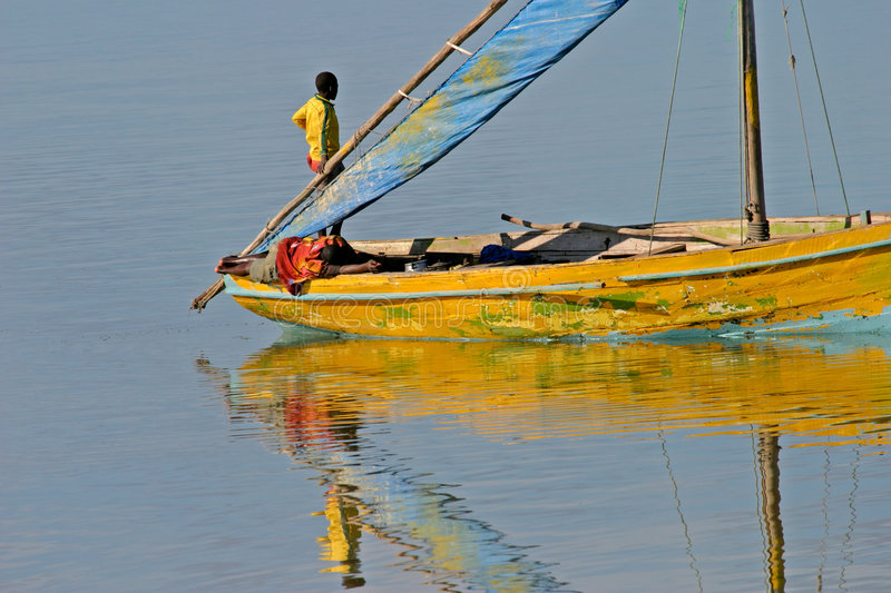 dhow mozambican arkivfoton