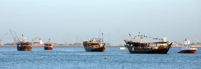 Download Dhow Parade stock image. Image of qatar, arabia, parade - 4569801