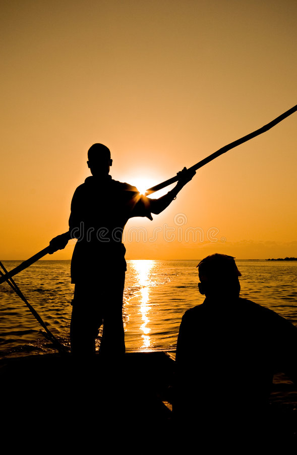 dhow rower obrazy stock