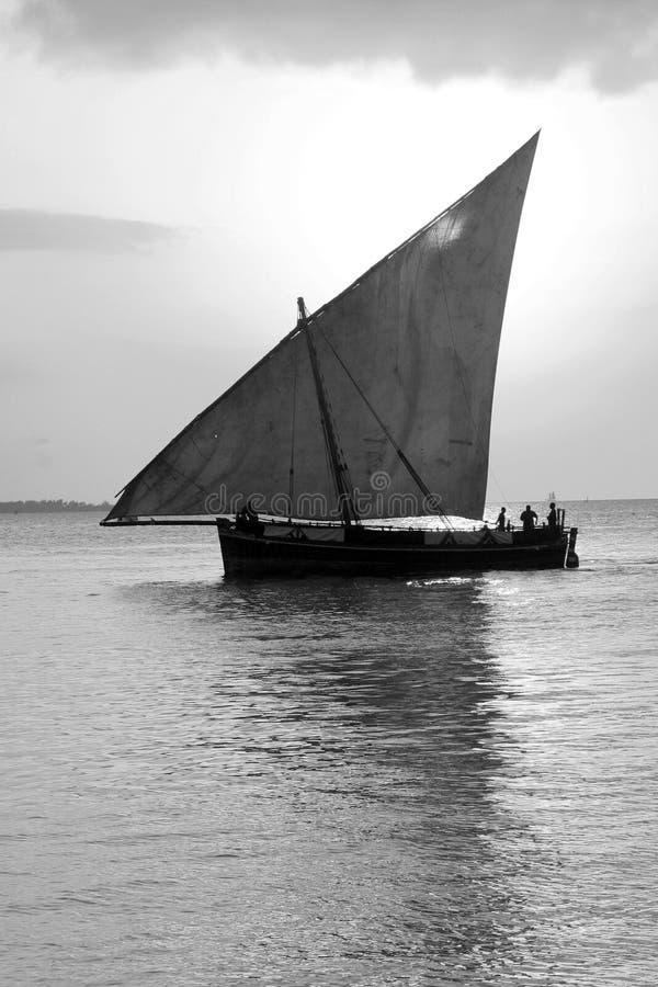 Dhow-Segelnboot stockbilder