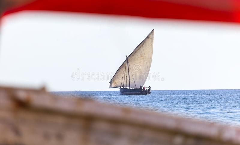 Dhow tradicional do transporte fotos de stock royalty free