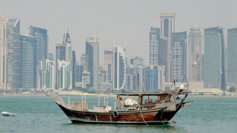 Dhow w Qatar obraz royalty free