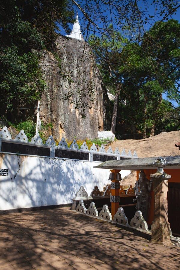 Dhowa Raja Maha Viharaya temple, Sri Lanka. Badulla,Sri Lanka - January 27,2019: Dhowa Raja Maha Viharaya temple, Sri Lanka. The temple has gain popularity stock photography