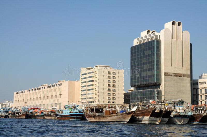 dhows Дубай заводи стоковое фото