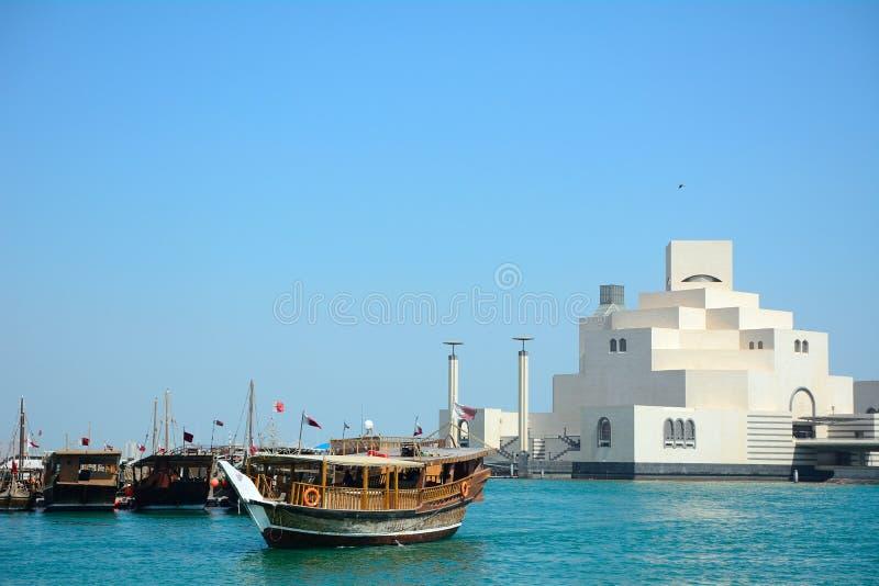 Dhows Doha, Qatar arkivbilder