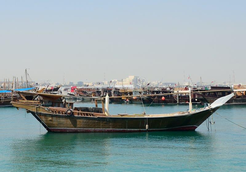Dhows, Doha, Qatar imagen de archivo libre de regalías