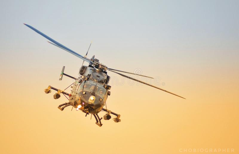 Dhruv Attack Helicopter images libres de droits