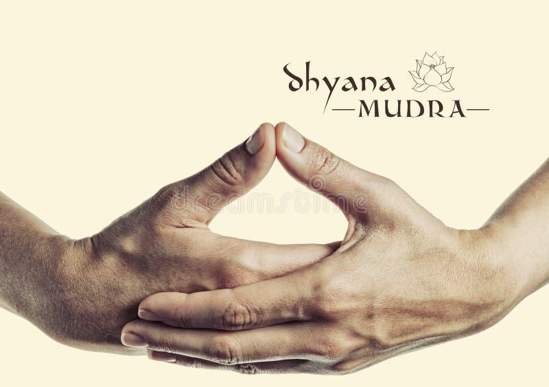 Dhyana Mudra imagem de stock