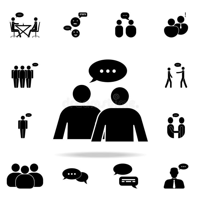 diálogo del icono de la gente Sistema detallado de iconos de la conversación Diseño gráfico superior Uno de los iconos de la cole stock de ilustración