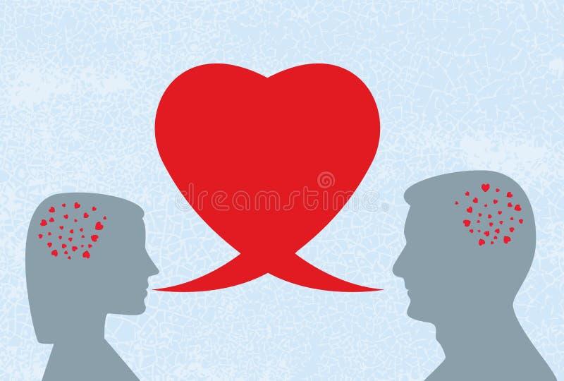 Diálogo do amor ilustração stock