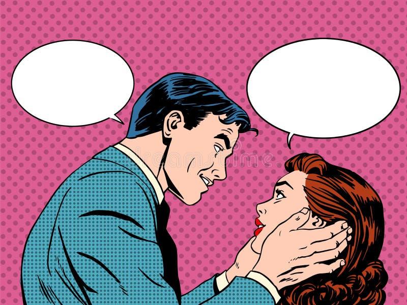 Diálogo do amor dos pares ilustração do vetor