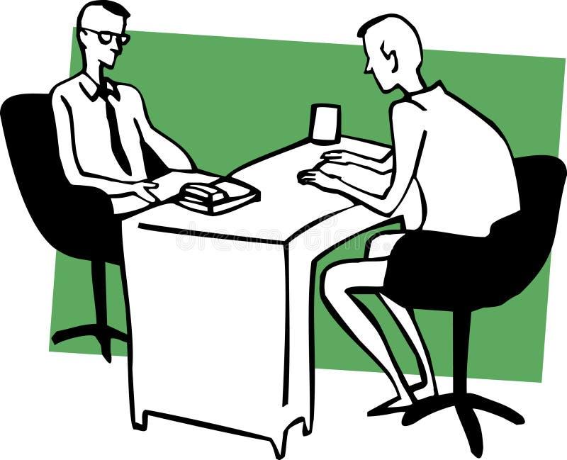 Diálogo do negócio ilustração stock