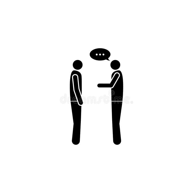 diálogo entre el icono de dos personas stock de ilustración