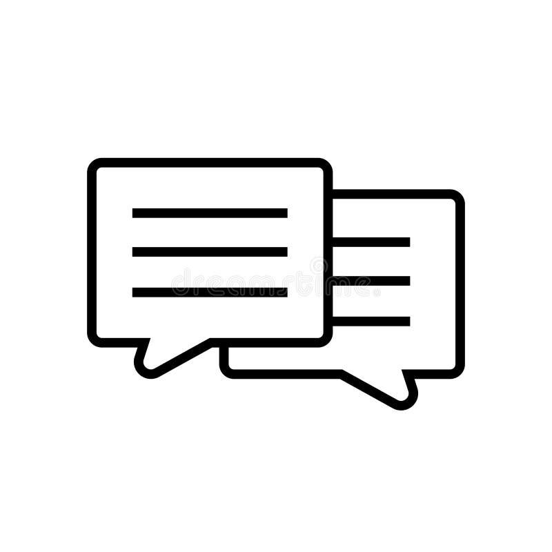 Diálogo entre o ícone dois ilustração royalty free