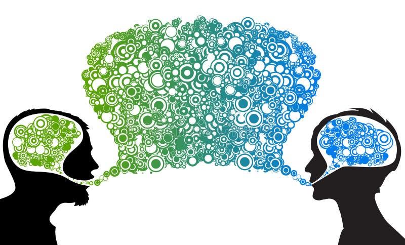 Diálogo entre o homem e a mulher ilustração stock