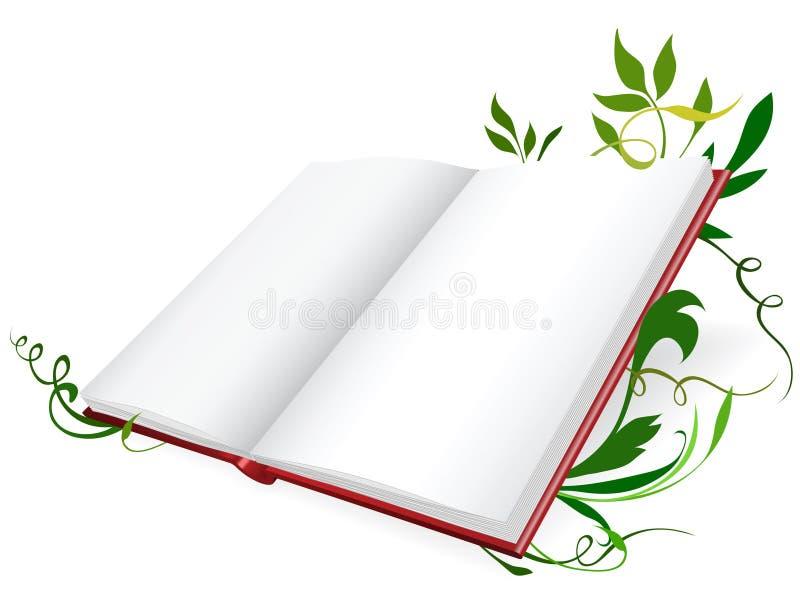 Diário aberto ilustração stock