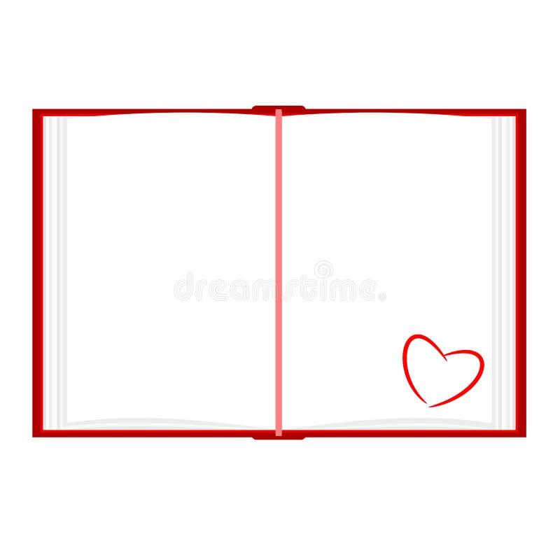 Diário do amor ilustração royalty free