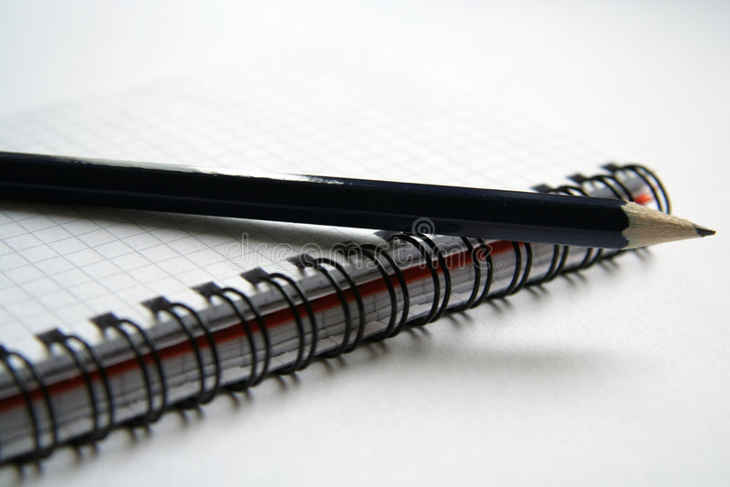 Diário e lápis fotos de stock royalty free