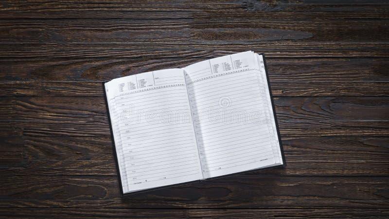 Diário, placa, páginas, planeamento empresarial, negócio, rotina diária, freelancing fotos de stock royalty free
