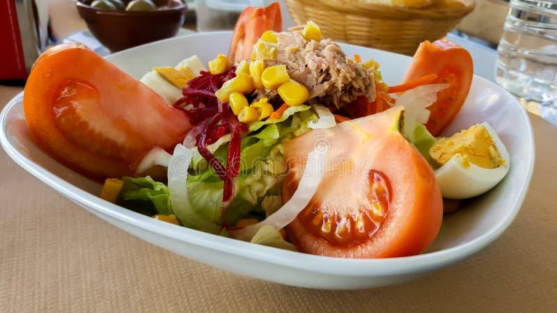 Diät des gemischten Salats mediterranen lizenzfreie stockfotos
