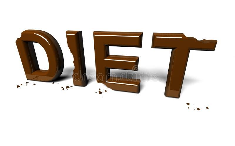 Diät nicht vollendet vektor abbildung