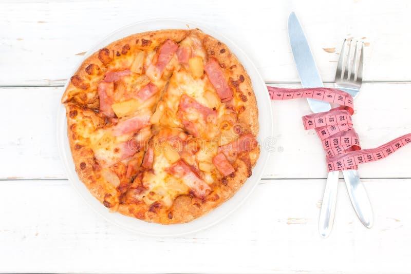 Diät-und Schnellimbiss-Konzept lizenzfreies stockbild